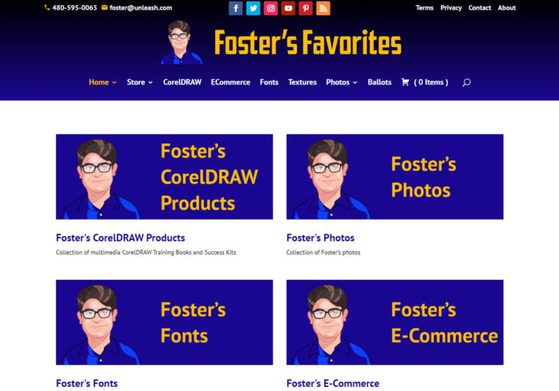 Foster's Favorites Web Site