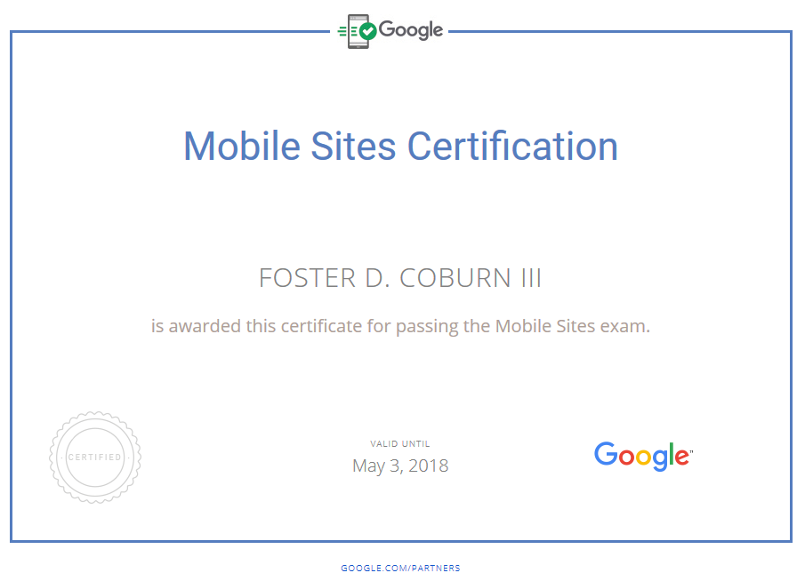 Unleashed Earns Mobile Sites Certification From Google
